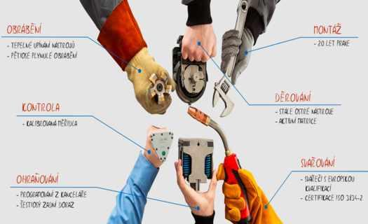 Výroba plechových dílů, třískové obrábění, CNC frézování, svařování