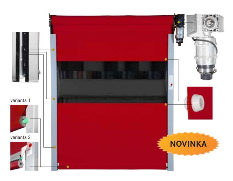 Elastická rychloběžná vrata pro vysokofrekvenční provoz - výroba