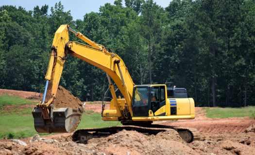 Demoliční a zemní práce, výkopy pro inženýrské sítě a bazény, terénní úpravy, rovnání terénu