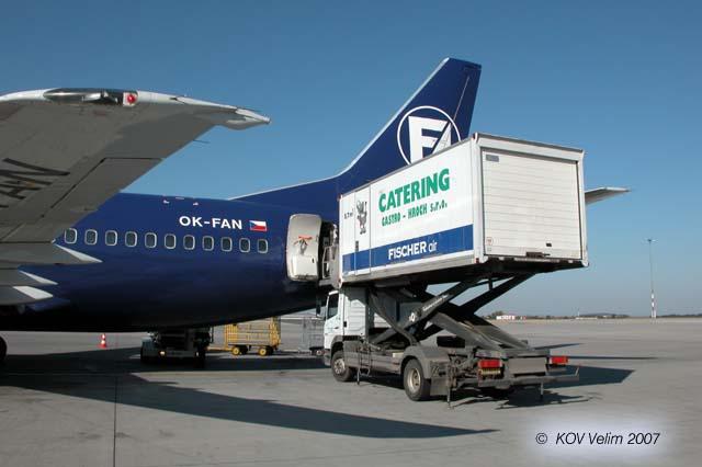 Letiště stravování kamionu