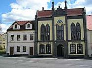 Město Chřibská v CHKO Lužické hory, lesní divadlo, radnice muzeum