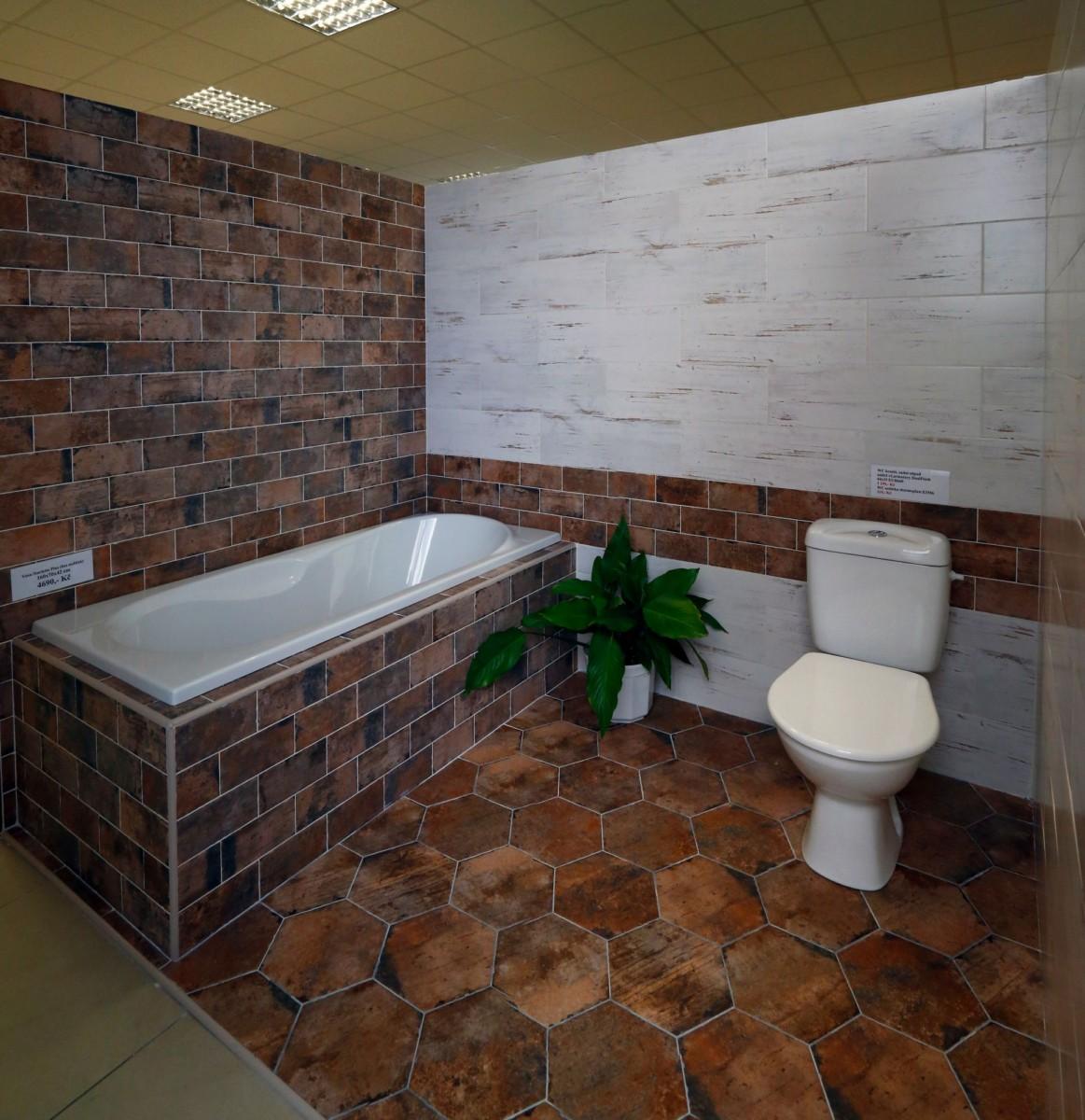 Sortiment koupelnových obkladů a dlažeb