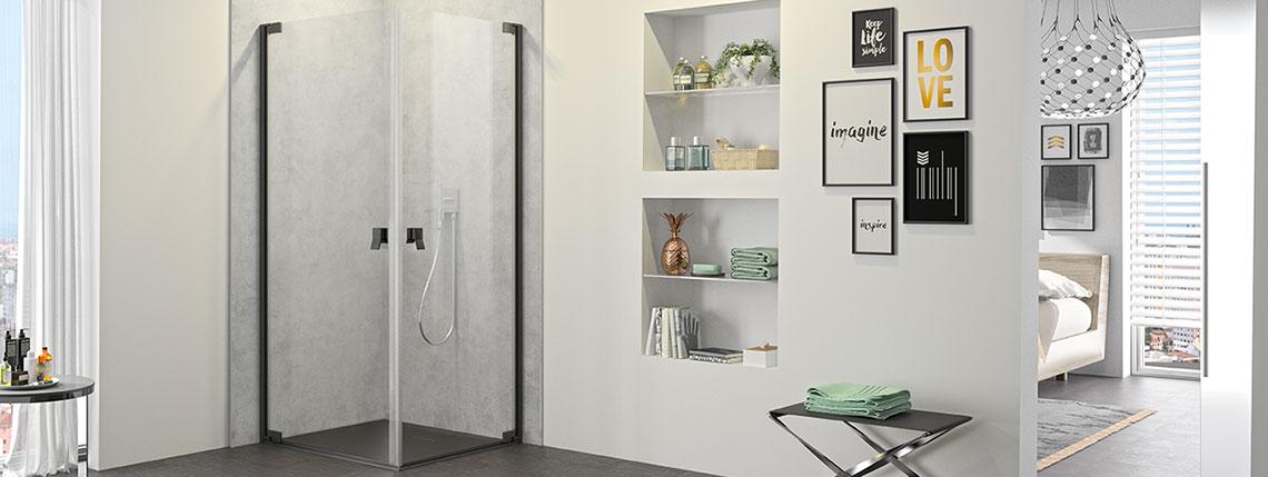 Sprchový kout s vysokou funkčností i atraktivním designem