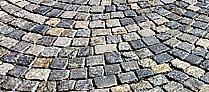 DAP. a.s., Praha, dlažby chodníků, pěších zón, parkovišť