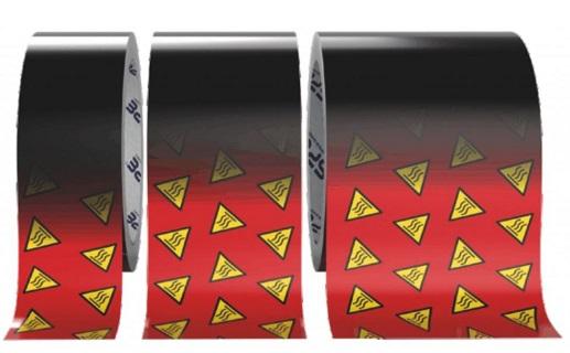 Varovná samolepící páska pro rozpoznání překročení teploty, detekci horkého povrchu