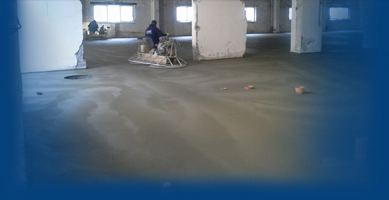 Kompletní dodávky strojně hlazených podlah na klíč včetně izolací,