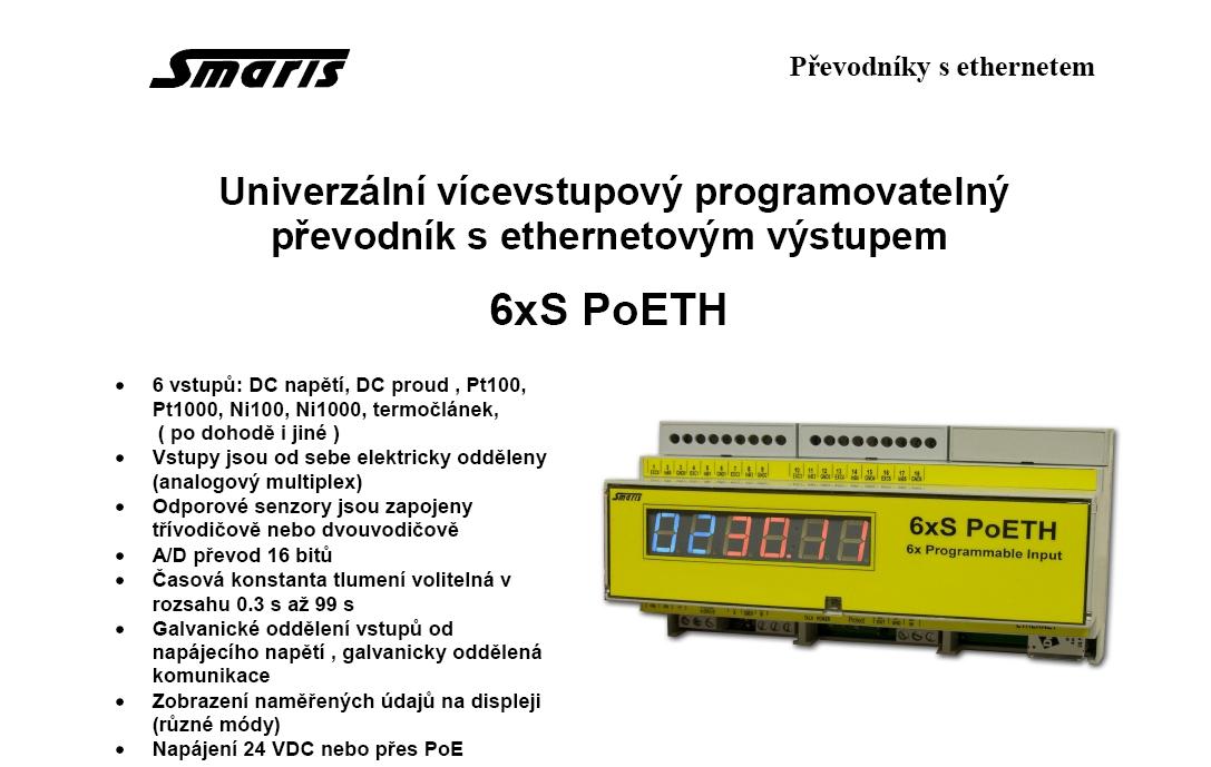 Univerzální vícevstupový převodník s ethernetem Uh. Hradiště