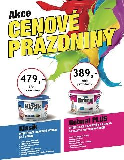 Sleva, akce na produkty HET - interiérové barvy HET Klasik bílý, HET Hetmal PLUS a penetrace HET UP-Grund za 1Kč