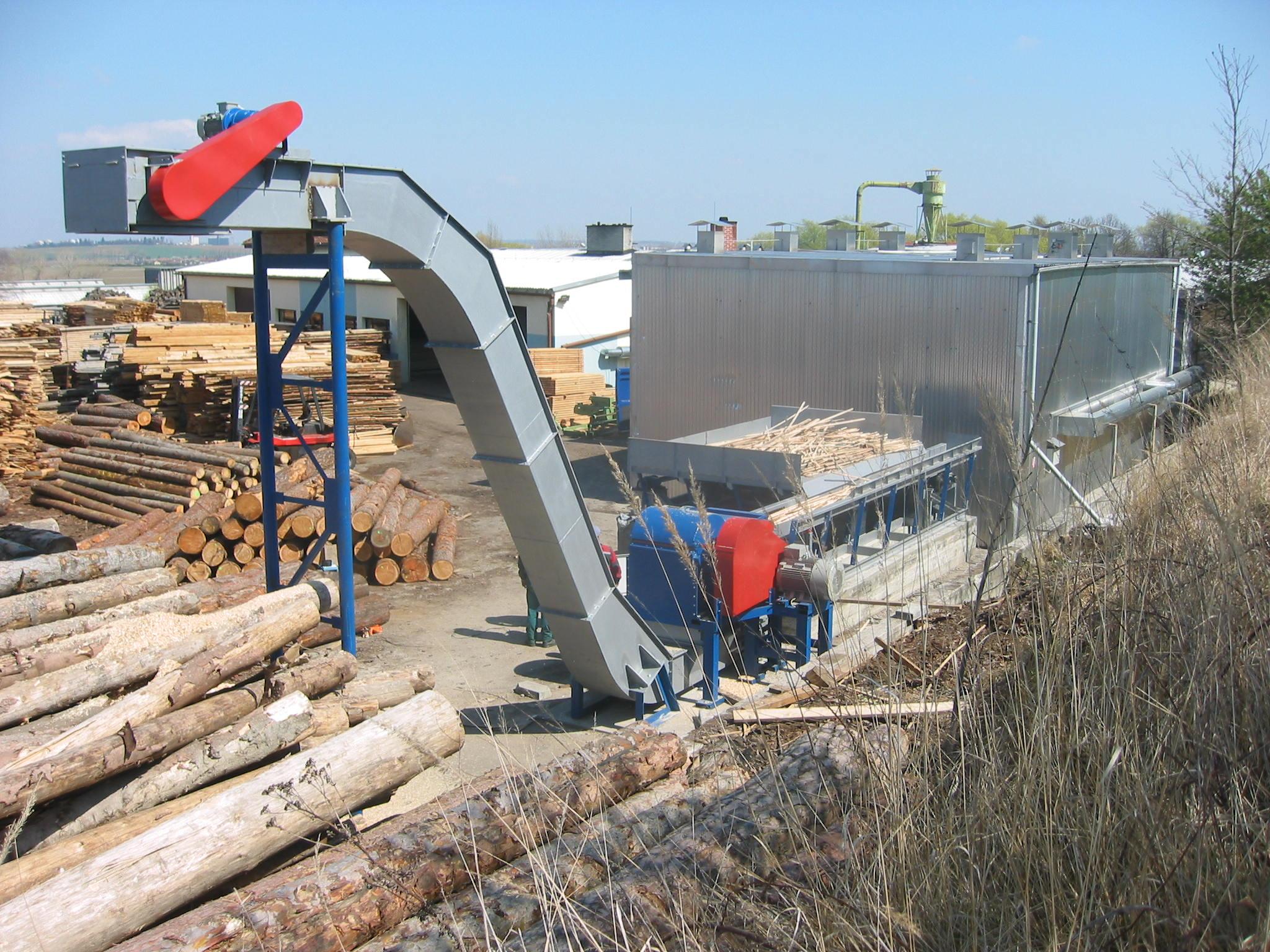 Zpracování dřevního odpadu