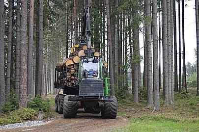 FOREST TEAM s.r.o., vývoz dřeva po děžbě lesa, moderní technika