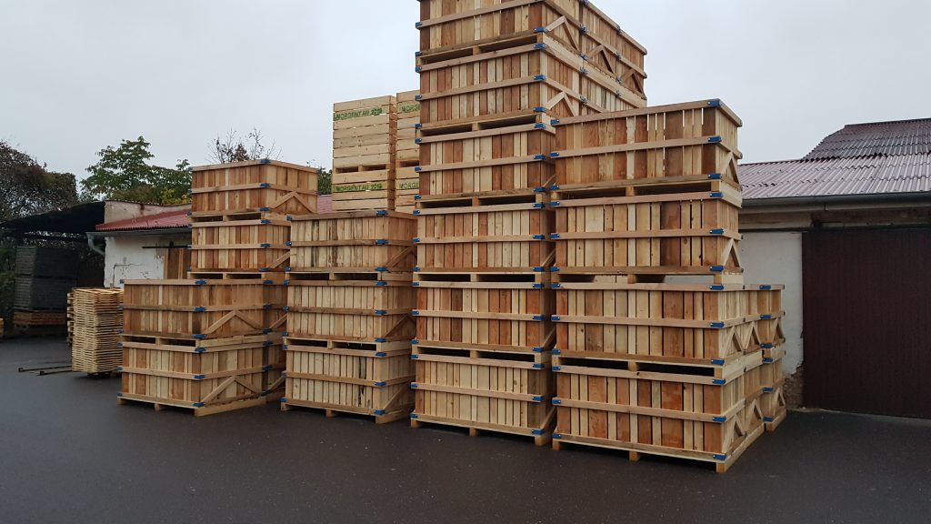 Bedny, palety, obaly ze dřeva - zakázková výroba, prodej