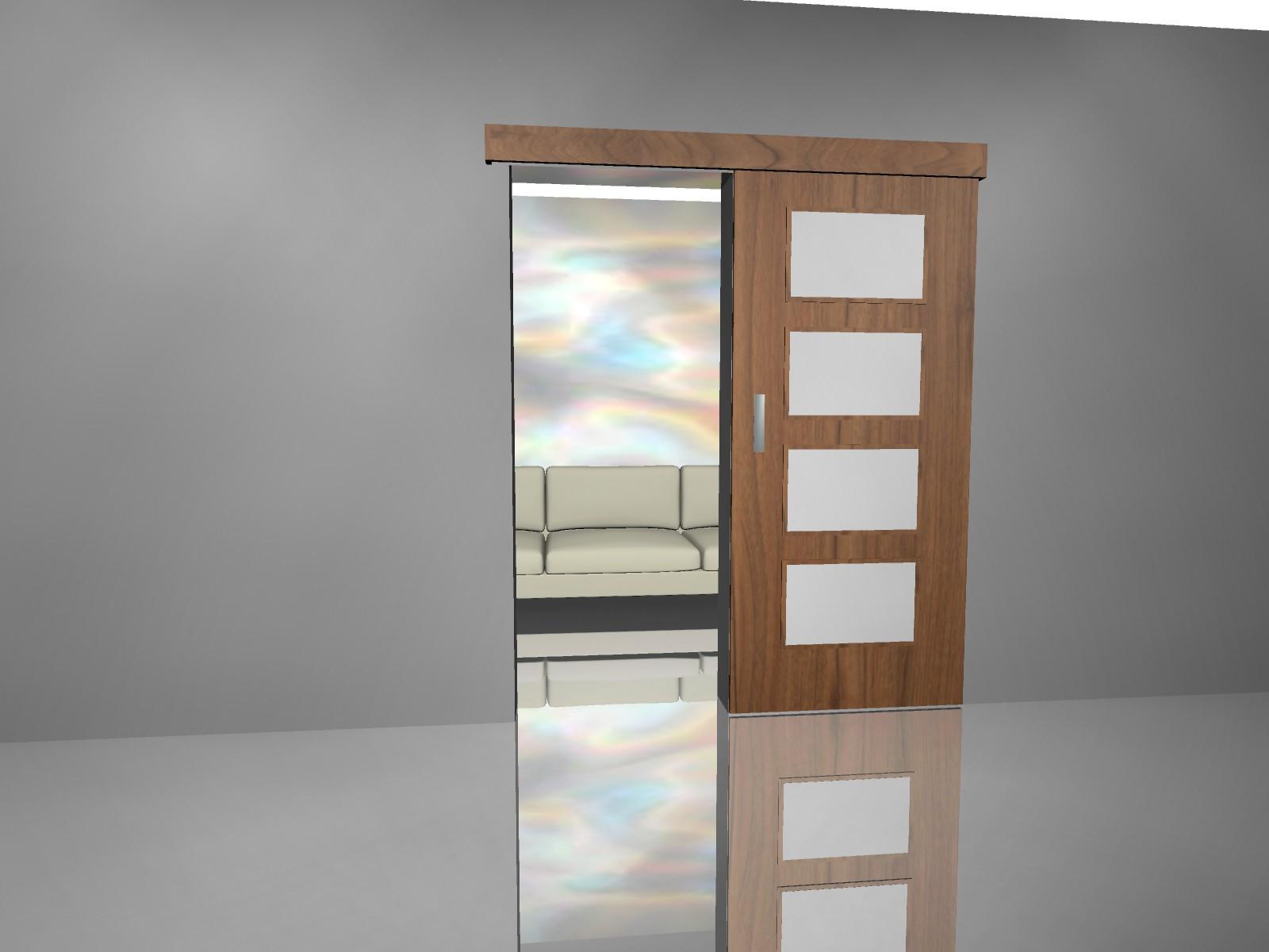 Výroba, prodej levných interiérových posuvných dveří, posuvek na zakázku