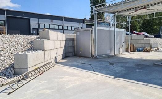 Betonové bloky pro dočasné stavby