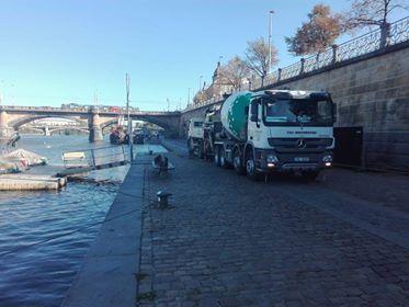 Beton pro revitalizaci pražských náplavek s požadavkem na vodotěsnost