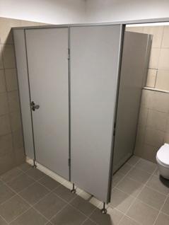 Výroba a predaj sanitárnych, WC priečok BL 13-3 laminát HPL, BL28 - riešenie pre sociálne zázemie