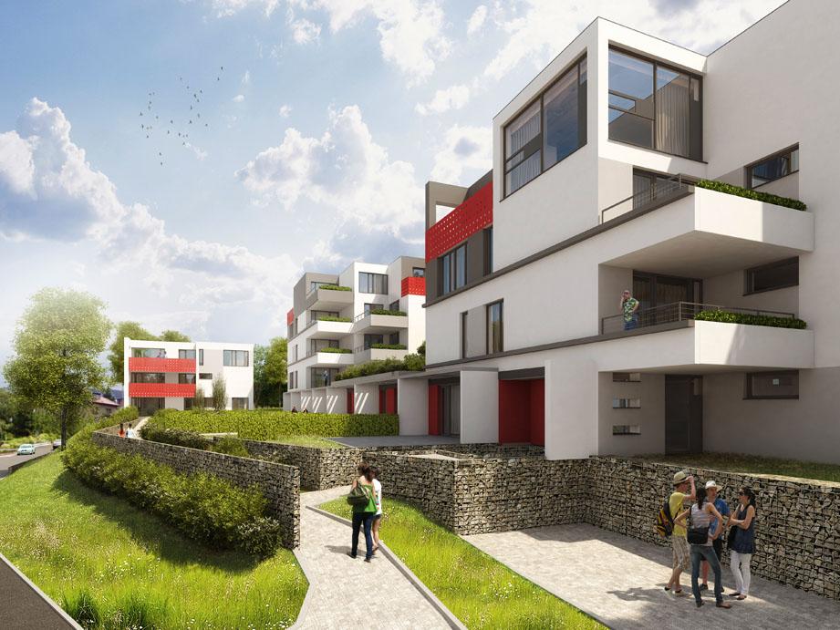 Výstavba nových bytů - rezidence 3D Modřany, nové byty, Praha 4