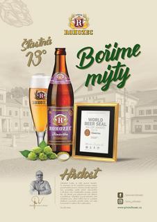 Třináctka Pivovaru Rohozec držitelem World Beer Seal 2019