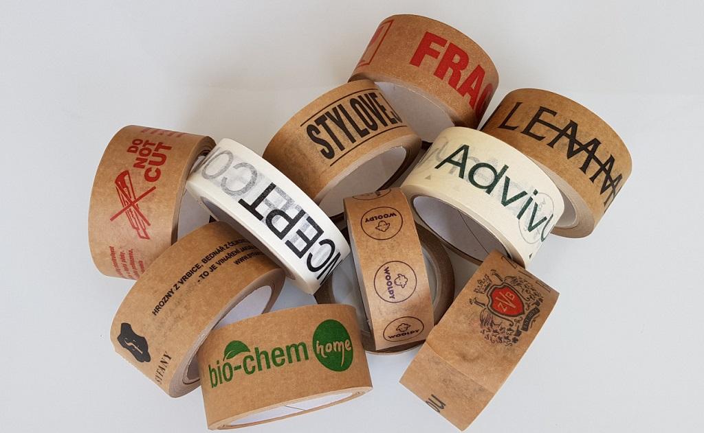 Výroba recyklovatelné papírové lepící pásky s potiskem - popisovatelné, ručně trhatelné
