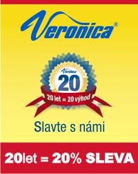 Šicí stroje Veronica 20 let na trhu = 20% sleva na eshopu