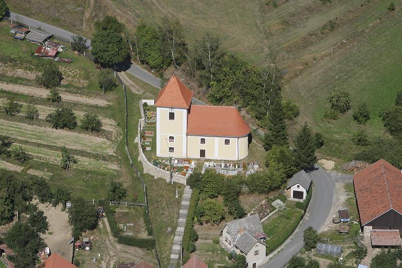 Obec Věžná v okrese Žďár nad Sázavou, historické památky kostel sv. Martina