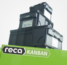Vícezásobníkový systém Reca-Kanban, box s velkou kapacitou vhodný pro sériové montáže