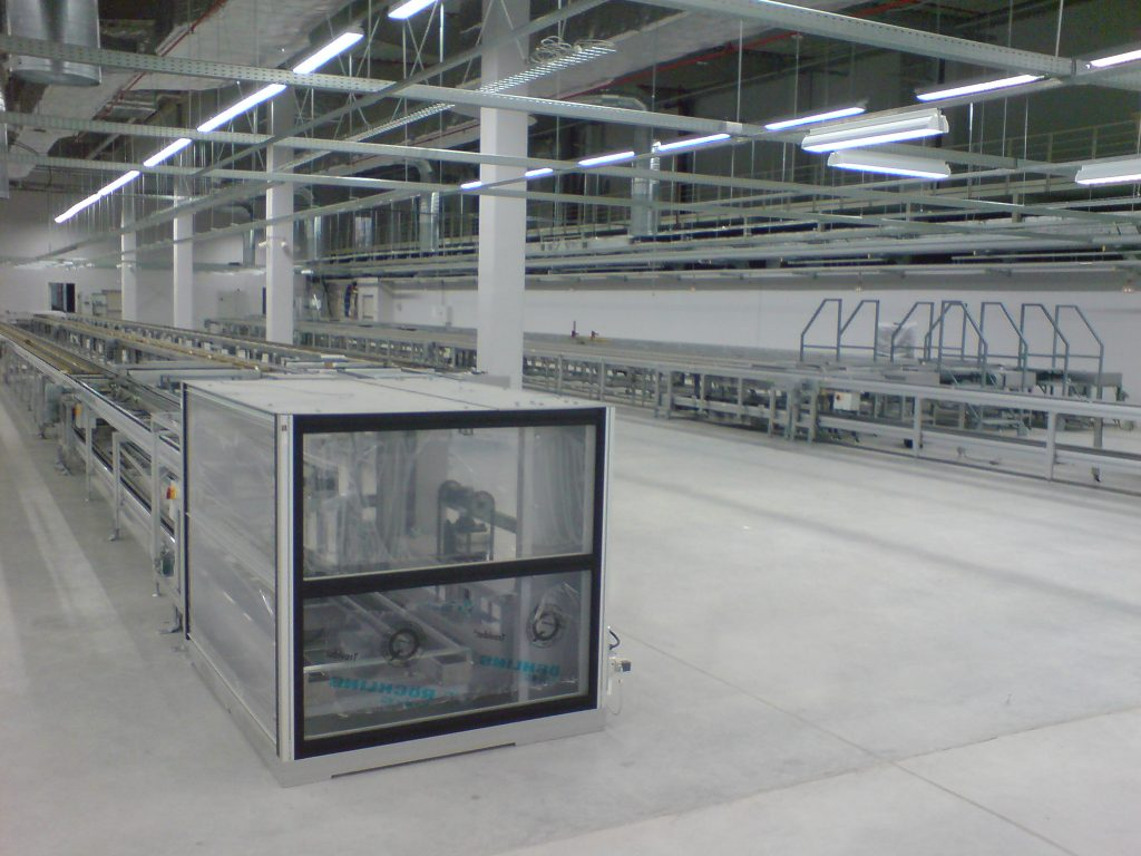 Instalace linek na výrobu elektroniky včetně elektroinstalace včetně průmyslové elektroinstalace