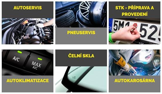 Autoservis, pneuservis a servis, plnění autoklimatizace na Uherskobrodsku