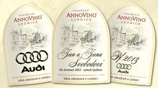 Dárkové balení vín s etiketou s logem společnosti, VINAŘSTVÍ VALTICKÉ PODZEMÍ s.r.o.