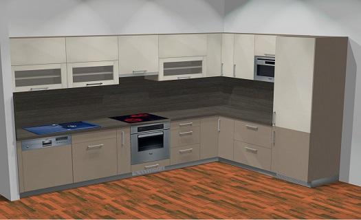 Kuchyňské linky české výroby - 3D vizualizace, montáž, prodej
