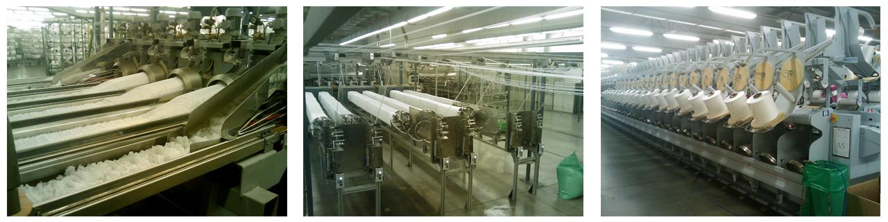 Zpracování BCF příze z polyamidu, PA vláken pro výrobu koberců