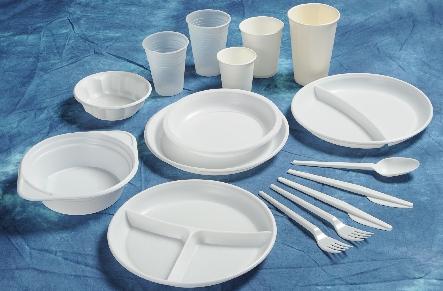 Levné nádobí k jednorázovému použití pro stravovací zařízení
