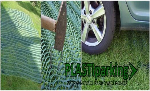 Zatravňovací rohože, plastová ochrana trávníků, parkovací rohože pro parkování i chodníky