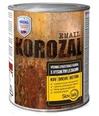 Vrchní syntetická univerzální barva pro lesklé nátěry kovových povrchů - Korozal Email