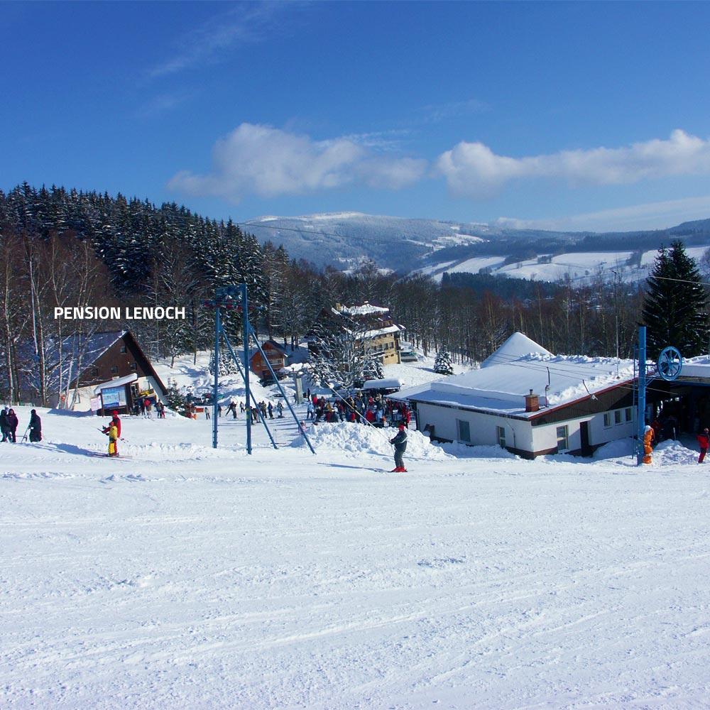 Penzion LENOCH v Rokytnici nad Jizerou, ubytování v blízkosti lyžařského areálu Studenov, Krkonoše