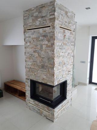 Nádherné krbové obklady z kamene, praktická a moderní kamenná dlažba - realizace a pokládka