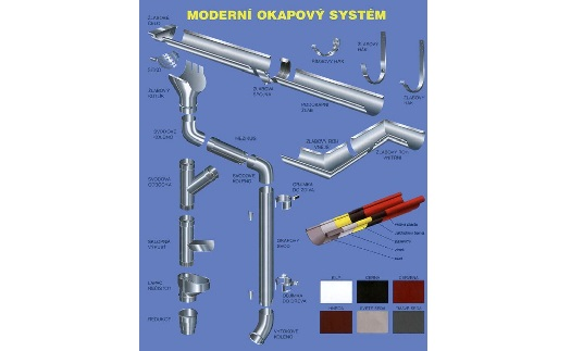 Okapové systémy - výroba, dodávka, prodej