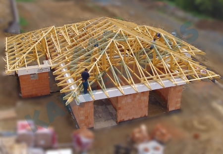 Příhradové vazníky, nosné konstrukce střech pro haly Brno