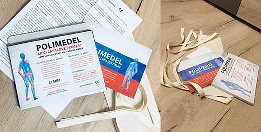 Elektretová medicínská fólie POLIMEDEL je léčebná pomůcka, která léčí záněty a tlumí bolesti