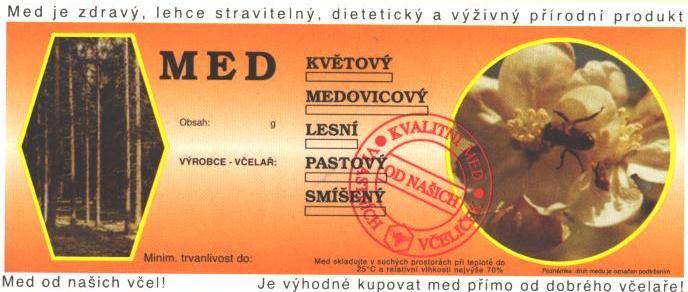 Prodej včelařských samolepících etiket s ochrannými známkami ČSV