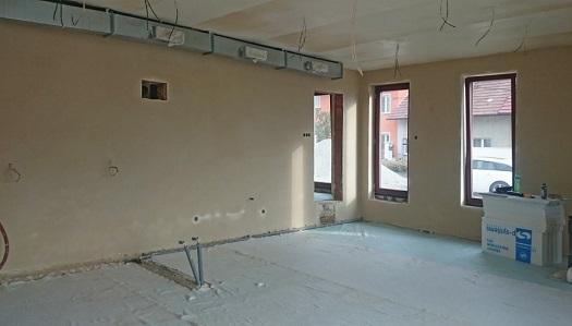 Strojní omítky s moderním vzhledem - pro lepší klimatické podmínky v místnosti