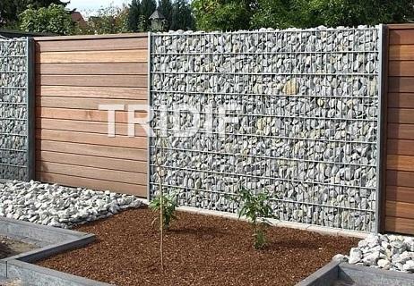 Sypané ploty široké, úzké - realizace gabionů, prodej gabionových sítí, konstrukcí