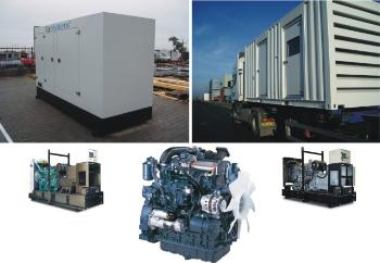 Zdroje výroby elektrické energie, mobilní dieselgenerátory.