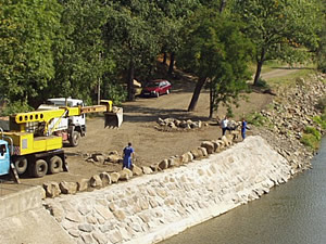 TRANS-REGION-STAV s.r.o. Chomutov, stavební činnost na vodohospodářských stavbách