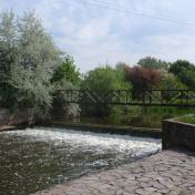 Obec Sány v okrese Nymburk, krásná příroda, řeka Cidlina