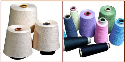 INDIEN, Baumwollfäden und Jeansstoff