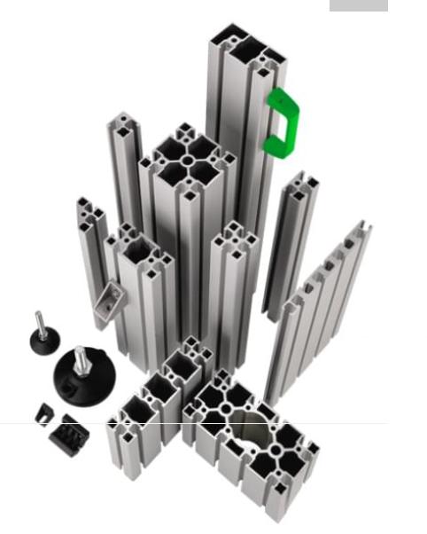 Hliníkové konstrukce, speciální profily a příslušenství