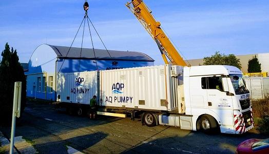 Výroba vysokotlaké čerpací stanice pro čerpání ropy zabudované do kontejnerů k použití v místech s nebezpečím výbuchu