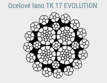 Spirálové nekroutivé ocelové lano TK 17 EVOLUTION