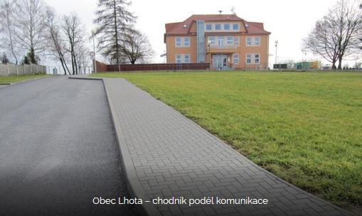 realizace chodníku v obci Lhota u Zlína