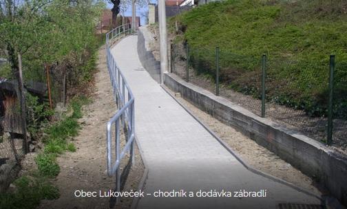 realizace chodníku v obci Lukoveček - Zlínský kraj
